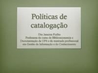Políticas de catalogação