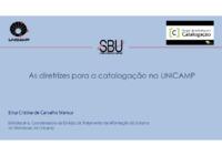 As diretrizes para a catalogação na UNICAMP