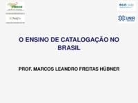 O ensino de catalogação no Brasil