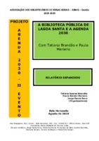 A Biblioteca Pública de Lagoa Santa e a Agenda 2030