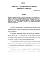 A biblioteca e a autonomia universitária: aspectos administrativos e financeiros.