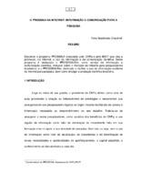 O Prossiga na internet: informação e comunicação para pesquisa.