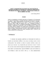 Linhas e tendências metodológicas nas dissertações do mestrado em Ciência do Instituto Brasileiro de Informação em Ciência e Tecnologia- Universidade do Rio de Janeiro (1972-1995).