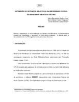 Automação do Sistema de Bibliotecas da Universidade Federal de Uberlândia: um estudo de caso.