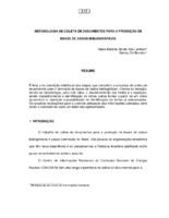 Metodologia de coleta de documentos para a produção de bases de dados bibliográficos.