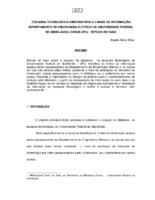 Pesquisa tecnológica universitária e canais de informação: Departamento de Engenharia da Universidade Federal de Uberlândia (DEENE/UFO): estudo de caso.