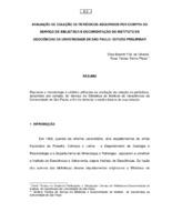 Avaliação da coleção de periódicos adquiridos por compra do serviço de Biblioteca e Documentação do Instituto de Geociências da Universidade de São Paulo: estudo preliminar.