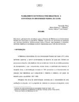 Planejamento estratégico para bibliotecas: a experiência da Universidade Federal do Ceará.