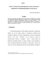 O PADCT e as bibliotecas universitárias: o caso da biblioteca comunitária da Universidade Federal de São Carlos.