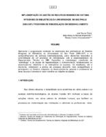 Implementação da gestão de recursos humanos no Sistema Integrado de Bibliotecas da Universidade ed São Paulo (SIBi/USP): programa de remodelação em desenvolvimento.