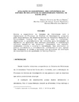 Avaliação de desempenho: uma experiência no Sistema de Bibliotecas da Universidade Federal de Goiás (UFG).