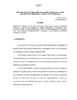 Implantação de uma base de dados em Microlsis para controle de aquisição: relato de experiência. (Pôster)