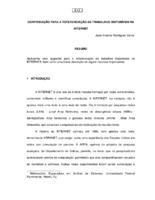 Contribuição para a referenciação de trabalhos disponíveis na Internet. (Pôster)