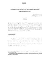 Política editorial na Pontifícia Universidade Católica de Campinas: uma proposta.