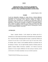 Comunicação visual, políticas de comunicação e marketing para bibliotecas universitárias: uma proposta para a Universidade Federal de Uberlândia. (Pôster)