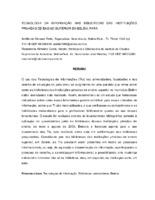 Tecnologia da informação nas bibliotecas das Instituiçoes Privadas de Ensino Superior em Belém, Pará.